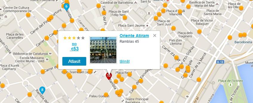 Barselonas interaktīvā karte